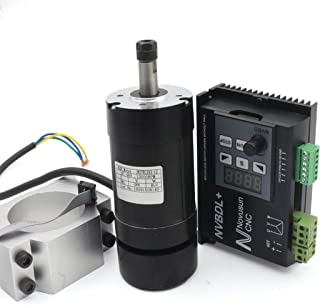 Blushless 400W Air Cooled Spindle motor kit 12000rmp ER8 NVBDL + Blushless 600W Motor Driver without Hall LCD Panel + 55mm Clamp Mount ?For small and medium-sized processing?
