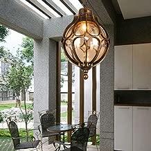 Carl Artbay European Porch Simple Retro Outdoor Chandelier Waterproof Garden lamp Villa Garden Aisle Rust Balcony Light (Color : Bronze)
