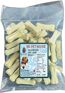 MS Pet House Rawhide Dog Chew Bone 3 Inches (Pack of 36 Bones)