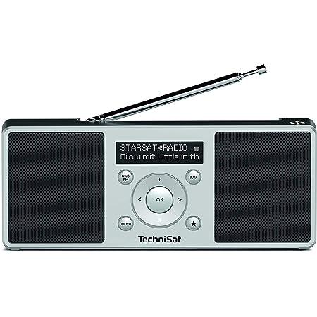 Technisat Digitradio 1 S Tragbares Stereo Dab Radio Mit Akku Dab Ukw Fm Lautsprecher Kopfhörer Anschluss Favoritenspeicher Oled Display 2 W Rms Silber Schwarz Heimkino Tv Video