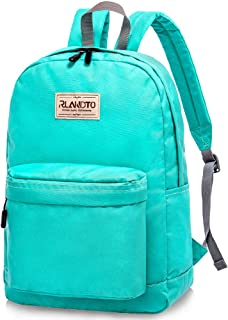 Rlandto Lightweight School Backpack, Water Resistant Classic College Bookbag Laptop Backpack Casual Daypack for Boys Girls
