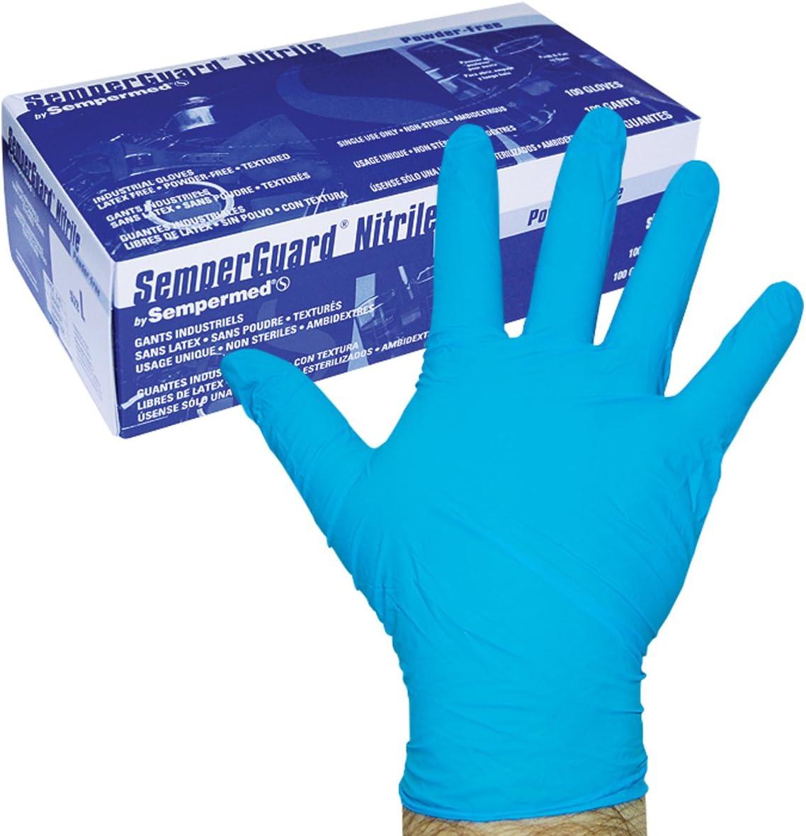 Sempermed EM-100 price Inventory cleanup selling sale 4-mil Blue Nitrile Gloves-Medium-Box Mediu 100