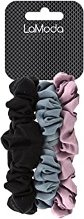 lamoda 时尚发圈/橡皮筋,粉色,灰色,黑色, 3 件