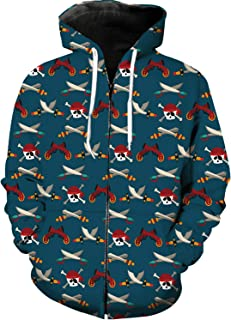 Fantasy Star Men's Full-Zip Hoodie Casual Tracksuit Printed Sports Casual Long Sleeve Loose Fitness Sweatshirts