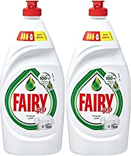 Fairy Diswashing Liquid Soap - Regular, 2 x 750ml