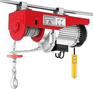 Happybuy 2200 LBS Lift Electric Hoist 110V Electric Hoist Overhead Crane Lift Electric Winch Remote Control