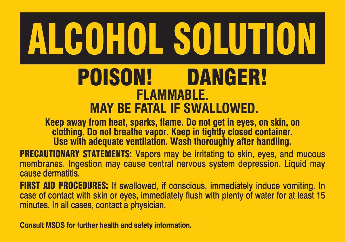 Brady 20196QLS Arlington Mall Chemical Biohazard Hazardous Labels Material security and