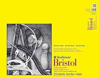 "Strathmore 300 Series Bristol Vellum Pad, 19""x24"", Tape Bound 20 Sheets"