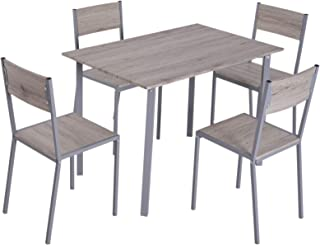 HOMCOM 5 Piece Modern Compact Kitchen Dining Room Table and Chairs Set