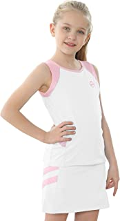 Willit Girls Tennis Golf Dress Outfit Kids Tennis Skirt and Tank Set Cotton Golf Clothes with Shorts