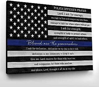Rustic Decor. Police Officer Blocks Misc Decor Badge Number Law Enforcement Blocks Thin Blue Line Police Officer Gift Police Blocks