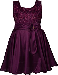 Baby Girls Dress Birthday Frocks for Girls - Lycra - (fe2644)