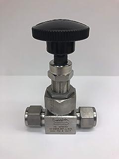 Inlet//Outlet : 1//4 Female : NPT Swagelok SS-3NRF4 Severe Service Union Bonnet Needle Valve, Material : 316 Stainless 2-Way Maximum Pressure : 6,000 psi