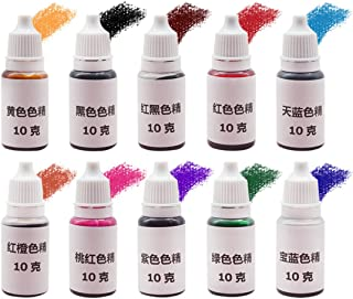 HITSAN 15 Colors Epoxy UV Resin Coloring Dye Colorant Pigment Mix Color for DIY Hobbiers One Piece