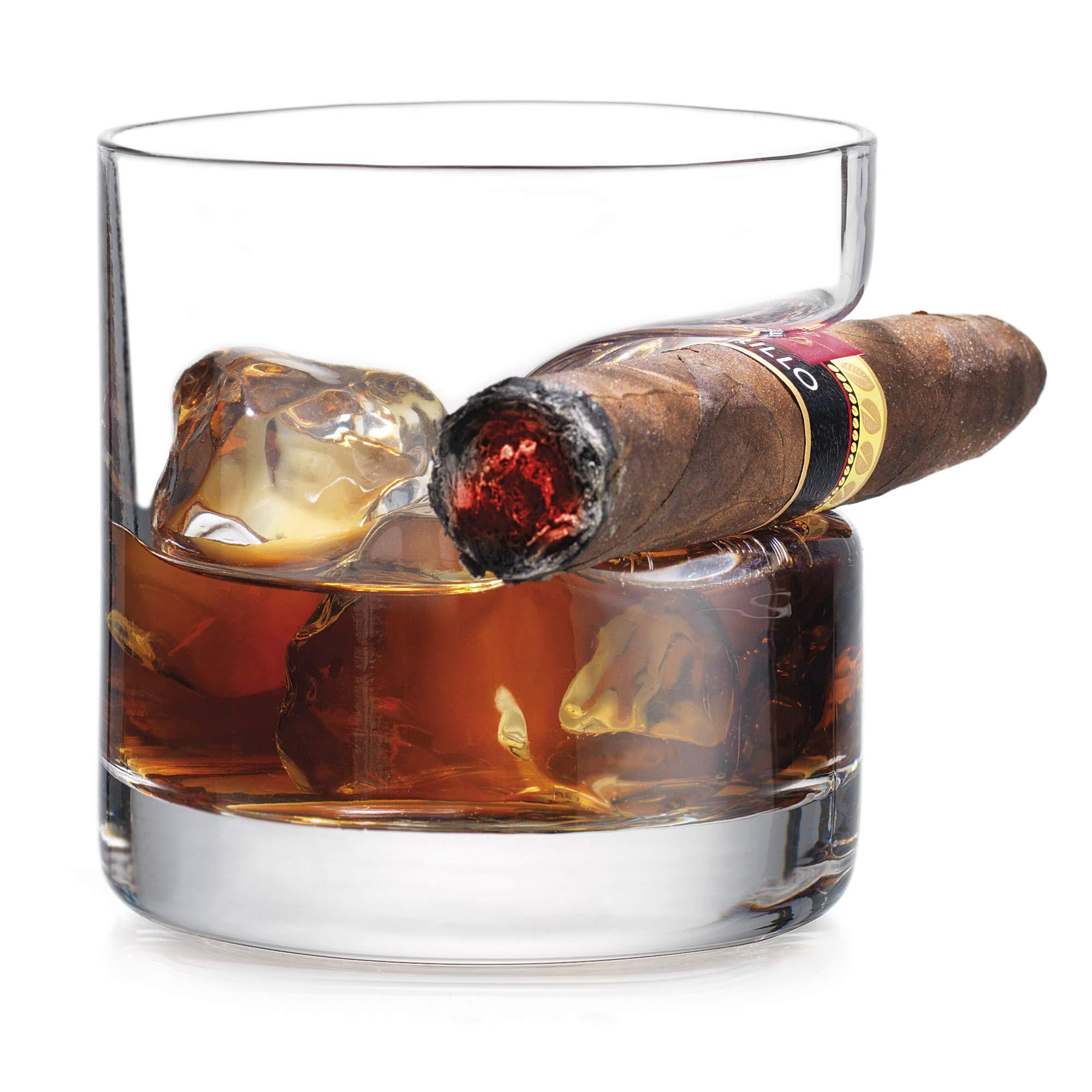 Godinger Cigar Glass Fashioned Indented