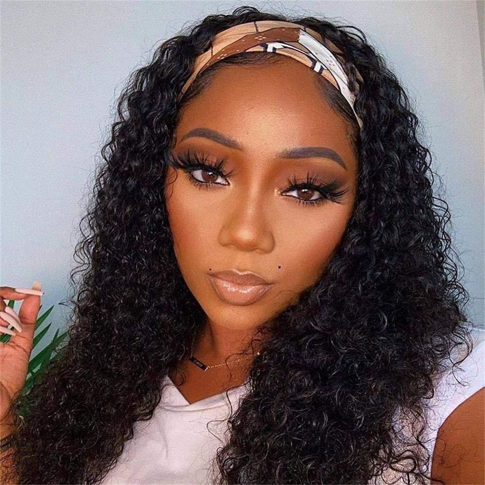 AliPearl Hair Deep Curly Headband Wigs for Regular discount Black Hai Human Rare Women