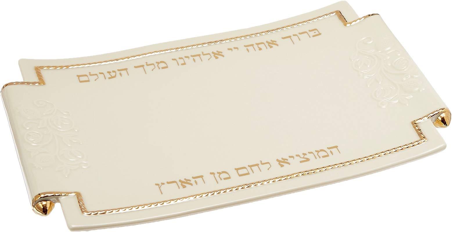 Lenox Judaic Blessings Challah Tray White