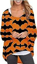 pour Haut pour femme avec imprimé fantômes - Décontracté - Manches longues - Sweatshirt - Blouse - Manches longues