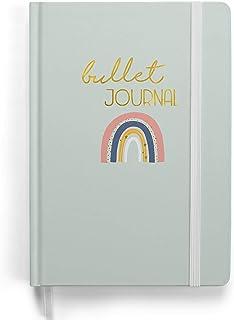 Notatnik Premium Bullet Journal Zestaw startowy - (tęcza) - notes A5 w kropki | 192 strony gruby papier w kropki 120g/m² |...