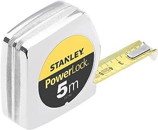 Stanley 0-33-194 mesure 5 m x 19 mm en Abs Powerlock Classic Fabriqué en France - Ruban Large - Revêtement Blade Armor et ...