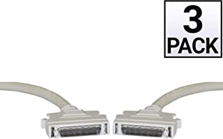 25 Twisted Pairs HPDB50 SCSI II Cable GOWOS 3 Pack 3 Feet Male Half Pitch DB50