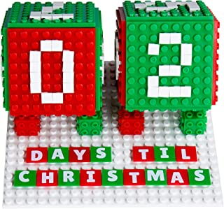 Countdown to Christmas Advent Calendar Set | Holiday Decorations STEM Toy Set | Building Bricks & Block Set Compatible with All Major Brands | 203 Pieces | Baseplates, Pixels, & 3D Briks