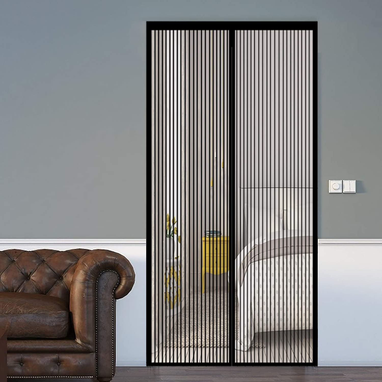 COUEO Magnetic Screen Door 120x205cm Keeps Fres Gifts Heavy Duty with Purchase