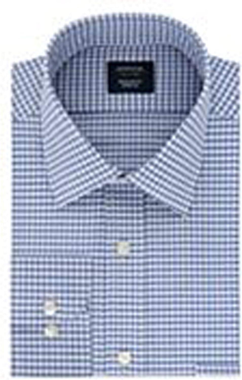 Arrow Men Dress Shirt Big & Tall Big Fit Stretch Fabric Easy Care Ink Blue Size: 18 1/2 32/33