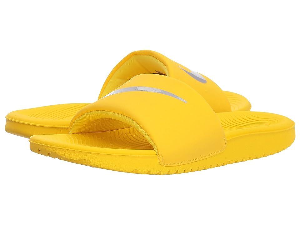 Nike Kids Kawa Slide (Little Kid/Big Kid) (Tour Yellow/Atmosphere Grey) Boys Shoes