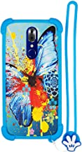 Case for UMIDIGI CRYSTAL Case Silicone border + PC hard backplane Stand Cover HD
