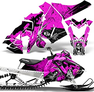 Polaris AXYS SKS Pro RMK Sled Wrap Graphic Kit Stickers Snowmobile REAPER PINK