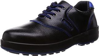 [シモン] 安全靴 短靴 JIS規格 耐滑 快適 SL11-BL 黒/ブルー 黒 24.5 cm 3E