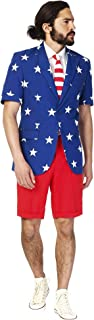 OppoSuits American Flag Summer Suit for Men - The Perfect Outfit for The 4th of July