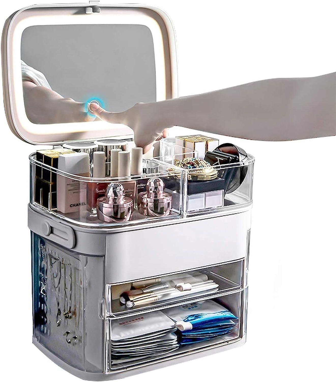 2021 model YXYH LED Light 2021 new Makeup Organizer Adjustable Cosmetic Make Storage