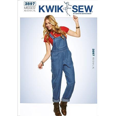 KWIK-SEW PATTERNS KWIK - SEW PATTERNS K3897 Size Extra-Small - Small - Medium - Large - Extra-Large Overalls, Pack of 1, White