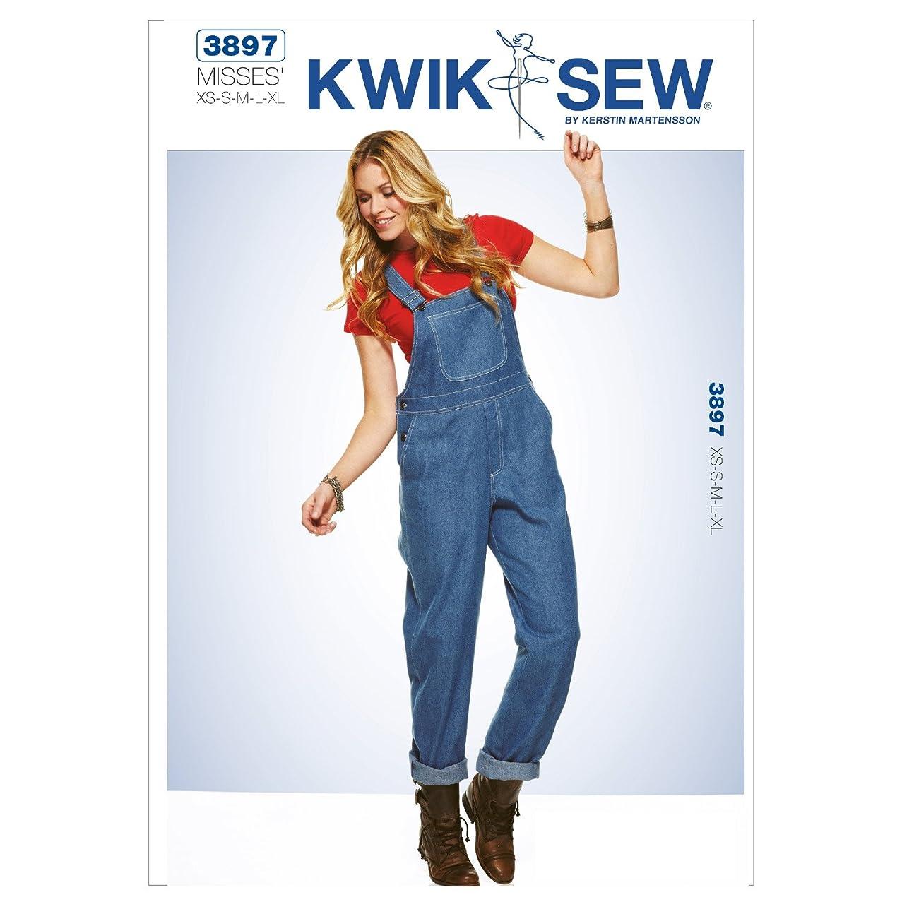 Kwik Sew K3897 Overalls Sewing Pattern, Size XS-S-M-L-XL