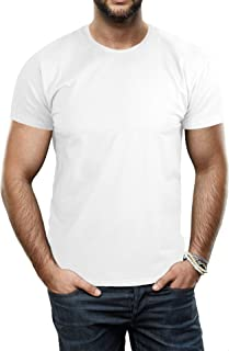 Sponsored Ad - X RAY Men's Soft Stretch Cotton Solid Short Sleeve Crewneck Slim Fit T-Shirt, Fashion Casual Tee for Men