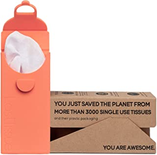 LastTissue The Reusable Organic Tissue Pack - Eco Friendly - Facial Cotton Tissues - Soft-on-The-Nose Handkerchiefs - Fox ...