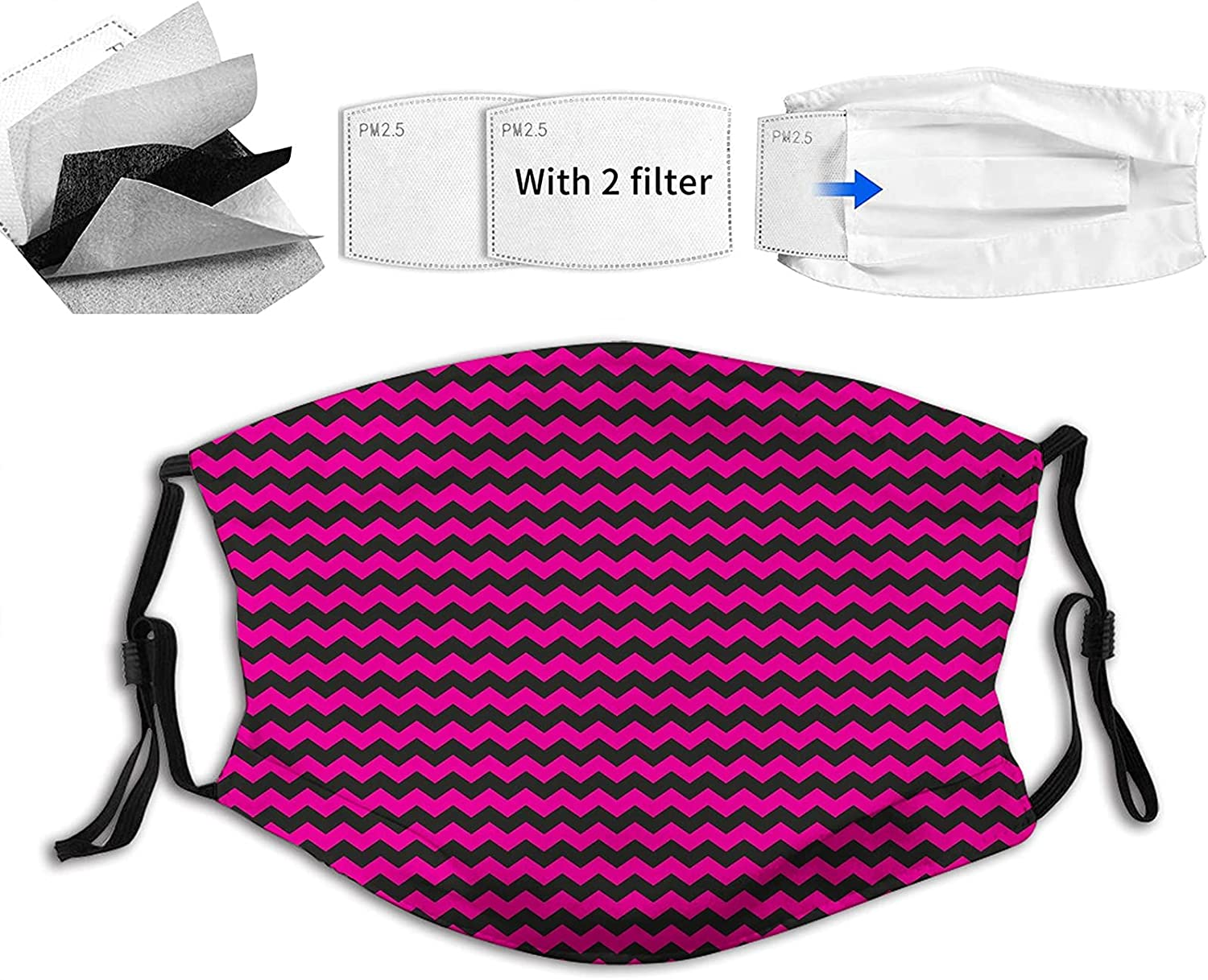 Comfortable Printed mask Zigzag Chevron with Max 73% OFF Curved Stri Pattern Jacksonville Mall