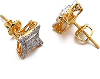 Hip Hop Men's Earrings Gold and Platinum Plated...
