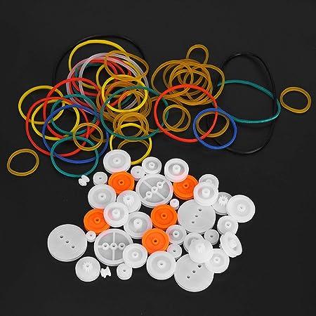 Bande de caoutchouc ensemble 40 pièces jouet modèle accessoire en plastique modèle accessoires bricolage composant Kit poulie engrenages pour jouet Air pour jouet