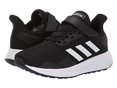 adidas Kids Duramo 9 (Little Kid) (Black/White) Boys Shoes