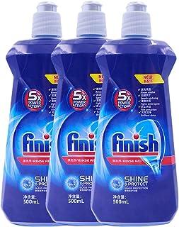 finish 洗碗机专用漂洗剂500ml*3(进口)(亚马逊自营商品, 由供应商配送)