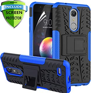 RioGree for LG K30 Phone Cases / k10 2018 / Phoenix Plus / CV3 Prime/Premier Pro LTE/Harmony 2 Cell Phone Case, with Screen Protector Kickstand Heavy Duty for Women Men, Blue