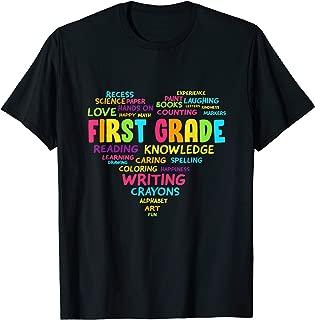 Heart Tee First Grade Team Teacher Student Back To School T-Shirt