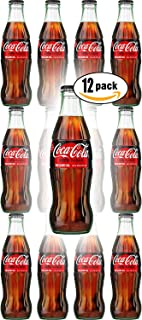 Coca-Cola Zero Sugar, 8 oz Glass Bottle (Pack of 12, Total of 96 Oz)
