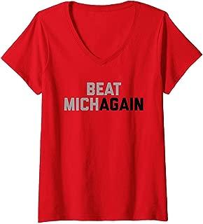 Womens Beat Michagain V-Neck T-Shirt