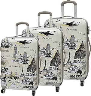 Travel Set Trolley bags 3 pieces by Magellan , Light Grey - TD1151/3P