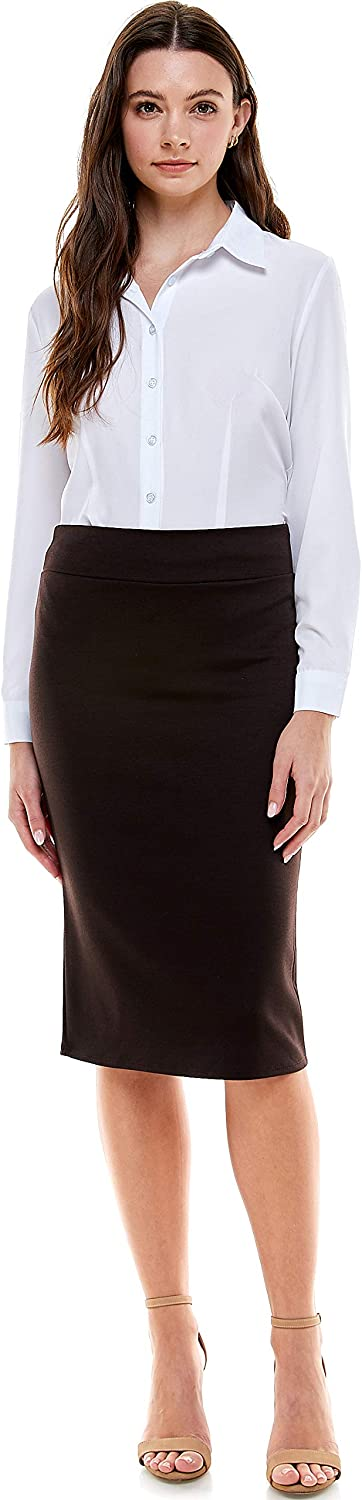 Azules Women's Below The Knee Pencil USA - Skirt Made in Spring new work one Manufacturer regenerated product after another