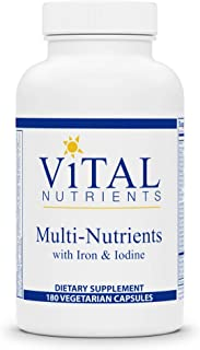 Vital Nutrients - Multi-Nutrients with Iron and Iodine - Comprehensive Multi-Vitamin/Mineral Formula Containing Iron and I...